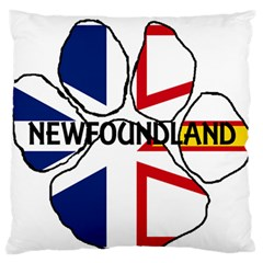 Newfoundland And Labrador Flag Name Paw Large Flano Cushion Case (One Side)