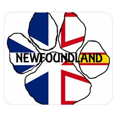Newfoundland And Labrador Flag Name Paw Double Sided Flano Blanket (Small)