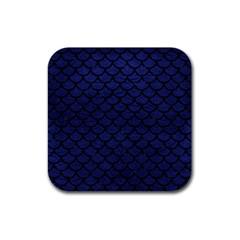 SCA1 BK-MRBL BL-LTHR (R) Rubber Coaster (Square)