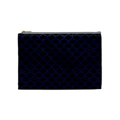 SCA1 BK-MRBL BL-LTHR Cosmetic Bag (Medium)