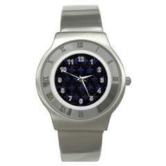 RYL1 BK-MRBL BL-LTHR (R) Stainless Steel Watch