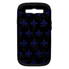 RYL1 BK-MRBL BL-LTHR (R) Samsung Galaxy S III Hardshell Case (PC+Silicone)