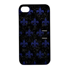 RYL1 BK-MRBL BL-LTHR (R) Apple iPhone 4/4S Hardshell Case with Stand
