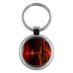 The Burning Of A Bridge Key Chains (Round)