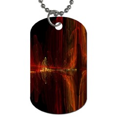 The Burning Of A Bridge Dog Tag (One Side)