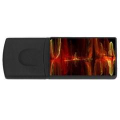 The Burning Of A Bridge USB Flash Drive Rectangular (2 GB)
