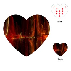 The Burning Of A Bridge Playing Cards (Heart)