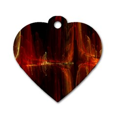 The Burning Of A Bridge Dog Tag Heart (One Side)