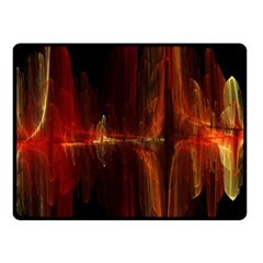 The Burning Of A Bridge Double Sided Fleece Blanket (Small)