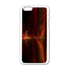 The Burning Of A Bridge Apple iPhone 6/6S White Enamel Case
