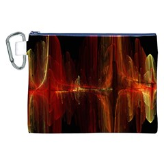 The Burning Of A Bridge Canvas Cosmetic Bag (XXL)