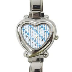 Batik Pattern Heart Italian Charm Watch