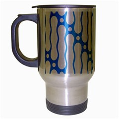 Batik Pattern Travel Mug (silver Gray)