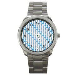 Batik Pattern Sport Metal Watch