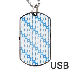 Batik Pattern Dog Tag USB Flash (One Side)