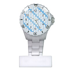 Batik Pattern Plastic Nurses Watch