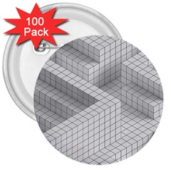 Design Grafis Pattern 3  Buttons (100 Pack)