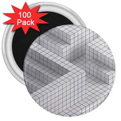 Design Grafis Pattern 3  Magnets (100 Pack)