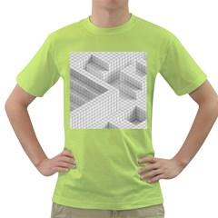Design Grafis Pattern Green T-Shirt