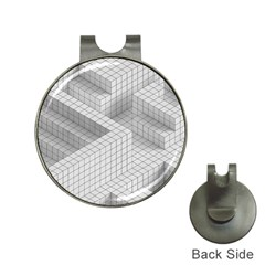 Design Grafis Pattern Hat Clips with Golf Markers