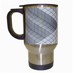 Design Grafis Pattern Travel Mugs (White)