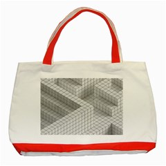 Design Grafis Pattern Classic Tote Bag (Red)