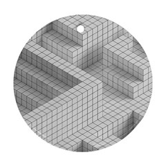 Design Grafis Pattern Round Ornament (Two Sides)