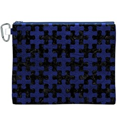PUZ1 BK-MRBL BL-LTHR Canvas Cosmetic Bag (XXXL)