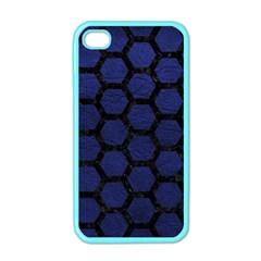 HXG2 BK-MRBL BL-LTHR (R) Apple iPhone 4 Case (Color)