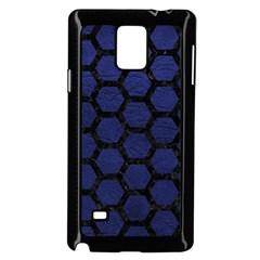 HXG2 BK-MRBL BL-LTHR (R) Samsung Galaxy Note 4 Case (Black)
