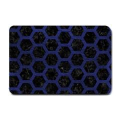 HXG2 BK-MRBL BL-LTHR Small Doormat
