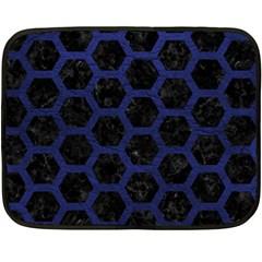 HXG2 BK-MRBL BL-LTHR Fleece Blanket (Mini)