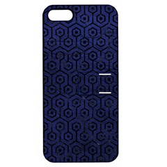 HXG1 BK-MRBL BL-LTHR (R) Apple iPhone 5 Hardshell Case with Stand
