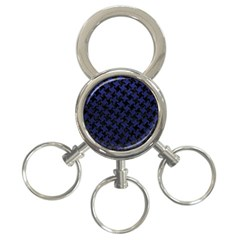 HTH2 BK-MRBL BL-LTHR 3-Ring Key Chains
