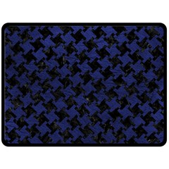 HTH2 BK-MRBL BL-LTHR Fleece Blanket (Large)