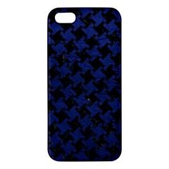 HTH2 BK-MRBL BL-LTHR Apple iPhone 5 Premium Hardshell Case