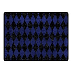 DIA1 BK-MRBL BL-LTHR Double Sided Fleece Blanket (Small)