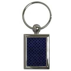 CIR3 BK-MRBL BL-LTHR Key Chains (Rectangle)
