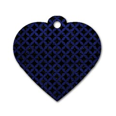 CIR3 BK-MRBL BL-LTHR Dog Tag Heart (One Side)