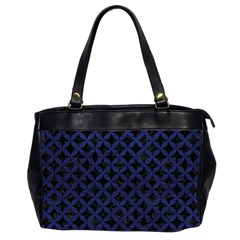 CIR3 BK-MRBL BL-LTHR Office Handbags (2 Sides)