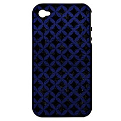 CIR3 BK-MRBL BL-LTHR Apple iPhone 4/4S Hardshell Case (PC+Silicone)