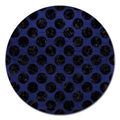 CIR2 BK-MRBL BL-LTHR (R) Magnet 5  (Round)