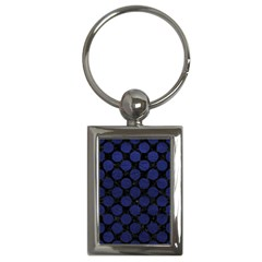 CIR2 BK-MRBL BL-LTHR Key Chains (Rectangle)