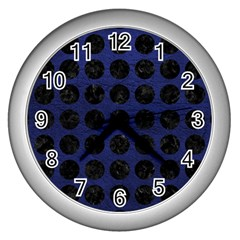 CIR1 BK-MRBL BL-LTHR (R) Wall Clocks (Silver)