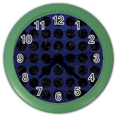 CIR1 BK-MRBL BL-LTHR (R) Color Wall Clocks
