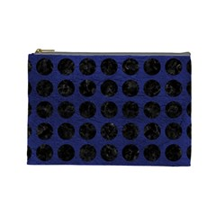 CIR1 BK-MRBL BL-LTHR (R) Cosmetic Bag (Large)