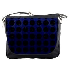 CIR1 BK-MRBL BL-LTHR (R) Messenger Bags