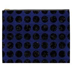 CIR1 BK-MRBL BL-LTHR (R) Cosmetic Bag (XXXL)