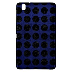 Circles1 Black Marble & Blue Leather (r) Samsung Galaxy Tab Pro 8 4 Hardshell Case