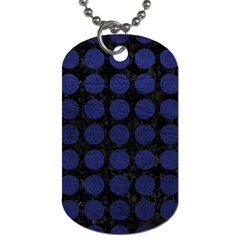 CIR1 BK-MRBL BL-LTHR Dog Tag (One Side)
